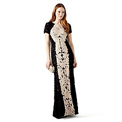 Phase Eight - Black and Ivory zena tapework full length dress