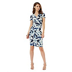 Phase Eight - Crepe Feather Print Dress