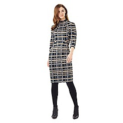 Phase Eight - Mia Funnel Neck Check Dress