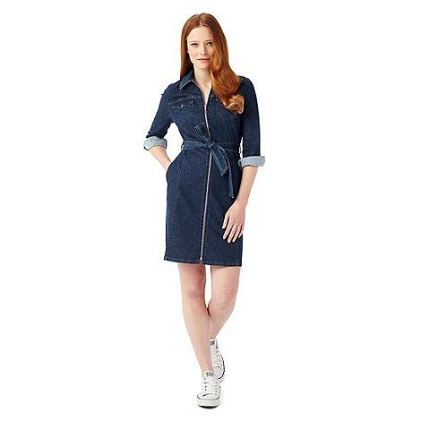 Model Red Herring Womens Blue Denim Shirt Dress From Debenhams  EBay