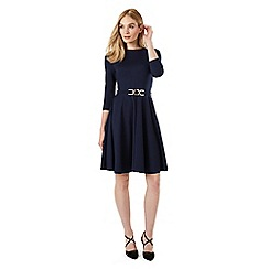 Phase Eight - Belted Ponte Swing Dress
