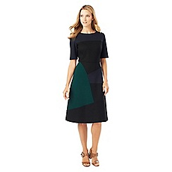 Phase Eight - Rosie A-Line Colour Block Midi Dress