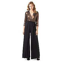 Phase Eight - Bronze Wrap Jumpsuit