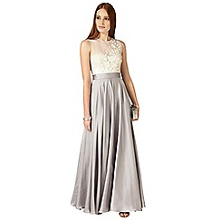 Phase Eight - Silver and cream Clarabella maxi dress