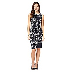 Phase Eight - Navy and ivory clara-mae printed dress