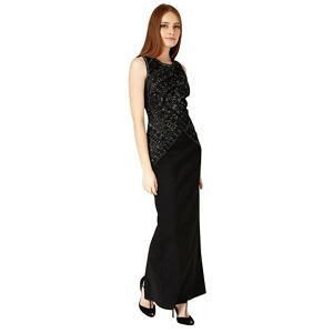 Phase Eight Black and Silver embry dress