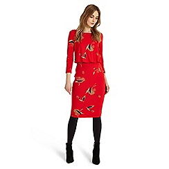 Phase Eight - Red meredith blouson dress