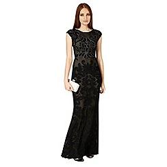 Phase Eight - Black enid tapework full length dress