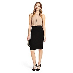 Phase Eight - Nude and black naima two in one dress