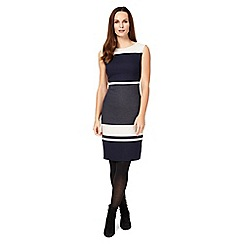Phase Eight - Navy and grey blanche colourblock dress