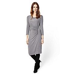 Phase Eight - Grey marl zoya zip side dress