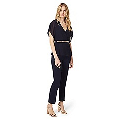 Phase Eight - Navy blossom belted jumpsuit