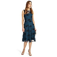 Phase Eight - Blue deidra embroidered dress