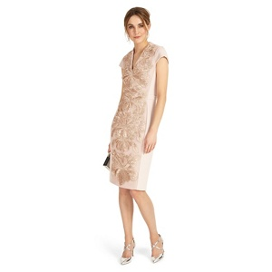 Phase Eight Soft pink laurie embroidered dress