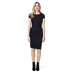 Phase Eight - Indigo and black magda colour block dress