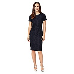 Phase Eight - Navy feather jacquard dress