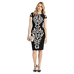 Phase Eight - Black perdy tapework dress