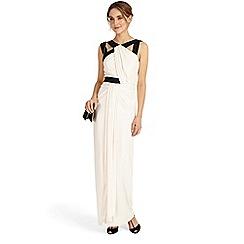 Phase Eight - Black and mauve chalk felicity drape maxi dress