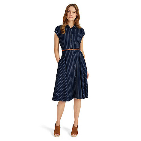 Phase Eight - Blue sophie stripe dress