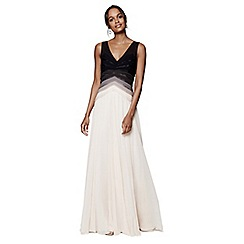 Phase Eight - Buttermilk Elfie ombre full length dress