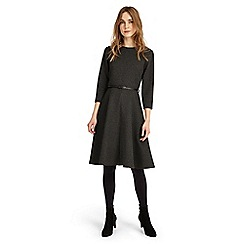 Phase Eight - Black and charcoal suzie swing spot dress