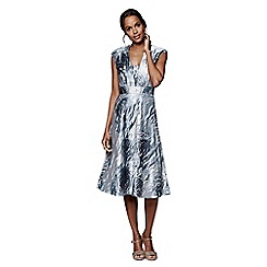Phase Eight - Smokey Lavender honey rose jacquard dress