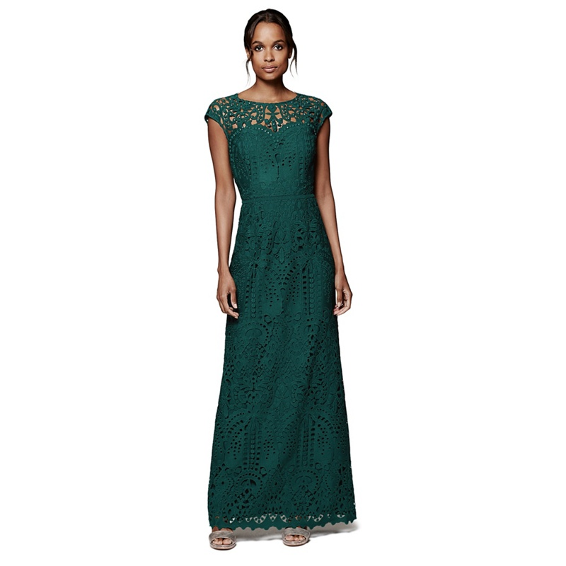 ff74400040 Phase Eight - Gloria Lace Full Length Dress