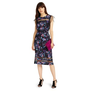 Phase Eight Black and Multi kacy floral print dress