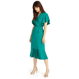 Phase Eight Bright green carlie frill dress