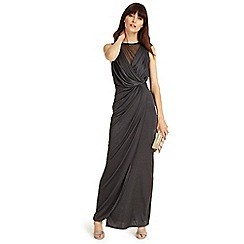 Phase Eight - Ever Green drape wrap maxi dress