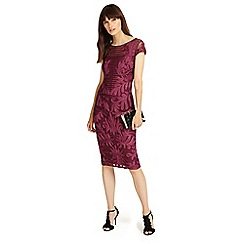 Phase Eight - Magenta trini tapework dress