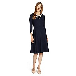 Phase Eight - Navy cross neck dress