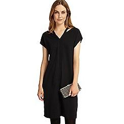Phase Eight - Black dani double v neck dress