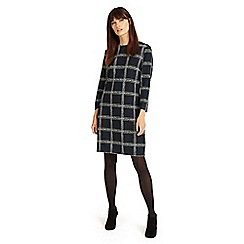 Phase Eight - Navy and Ivory sybil sketched check tunic
