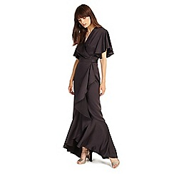 Phase Eight - Midnight angalina frill maxi dress
