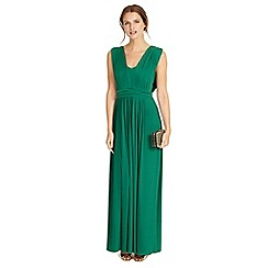 Phase Eight - Emerald aldora pleat full length dress