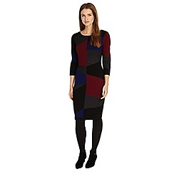 Phase Eight - Multi-coloured Carola colour block knitted dress