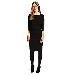 Phase Eight - Black Adele textured knitted dress