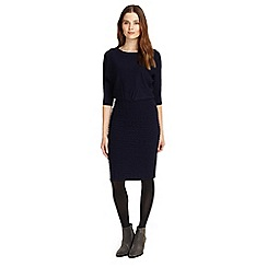 Phase Eight - Dark navy Adele texture knitted dress