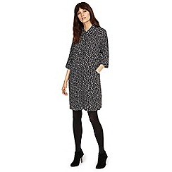 Phase Eight - Black and Ivory bella spot dress