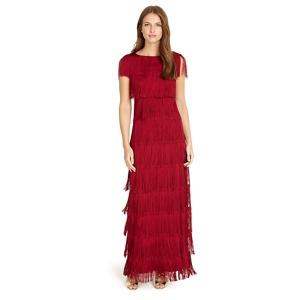 Phase Eight Red ismay fringe dress
