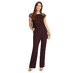 Phase Eight - Red cortine lace jumpsuit