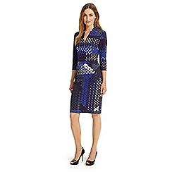 Phase Eight - Multi-coloured ginny hexagon print dress
