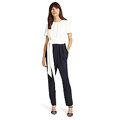 Phase Eight - Navy and Ivory bronwyn jumpsuit