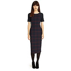 Phase Eight - Navy and Brick tammy check dress