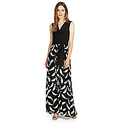 Phase Eight - Black and Ivory domenika feather full length dress