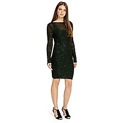 Phase Eight - Pine 'Juana' sequin knitted dress