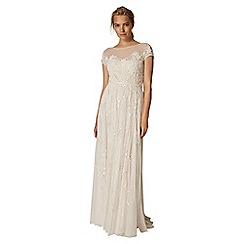 Phase Eight - White liliana embellished bridal dress