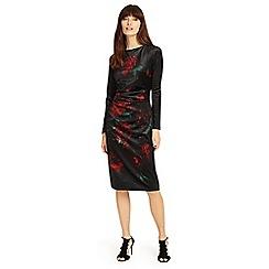 Phase Eight - Black 'Fenella' print dress