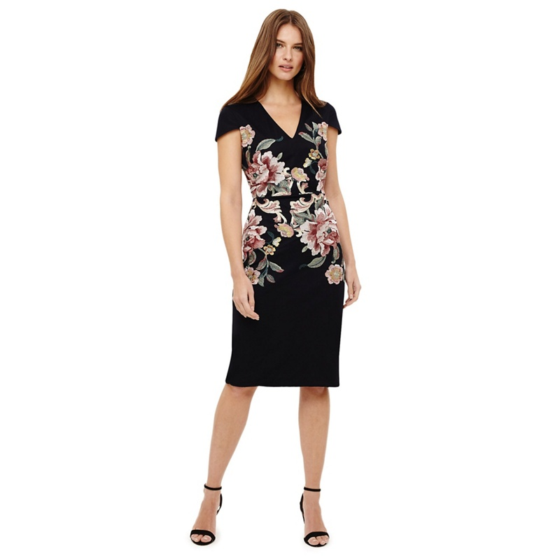84c244bb1ec4 Phase Eight - Multi-Coloured Nara Floral Embroidered Dress - £89.00 -  Bullring   Grand Central
